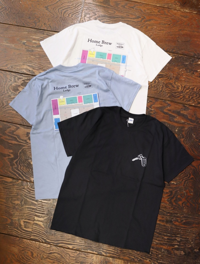 RADIALL  「HOME BREW - CREW NECK T-SHIRT S/S」  プリントティーシャツ