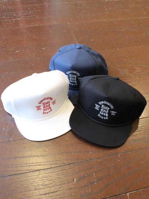 HIDEANDSEEK 「Circle Logo Trucker CAP」 トラッカーキャップ