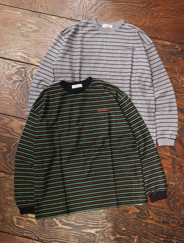 RADIALL  「DUBWISE - CREW NECK T-SHIRT L/S」  ボーダーロングスリーブティーシャツ