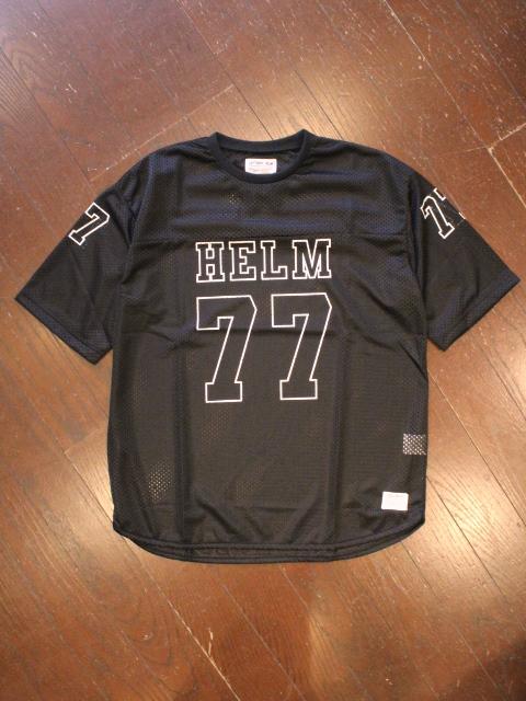 CAPTAINS HELM 「#MESH FOOTBALL TEE」 メッシュフットボールティーシャツ
