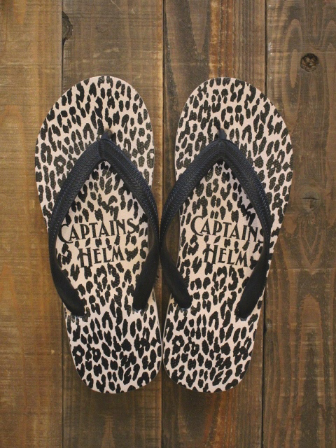 cyaabo x CAPTAINS HELM 「#LEOPARD FLIP FLOP」 ビーチサンダル