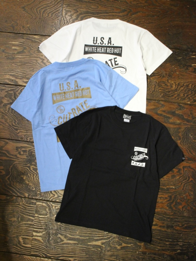CUT RATE  「US&JP SIGNBOARD S/S T-SHIRT」 プリントティーシャツ