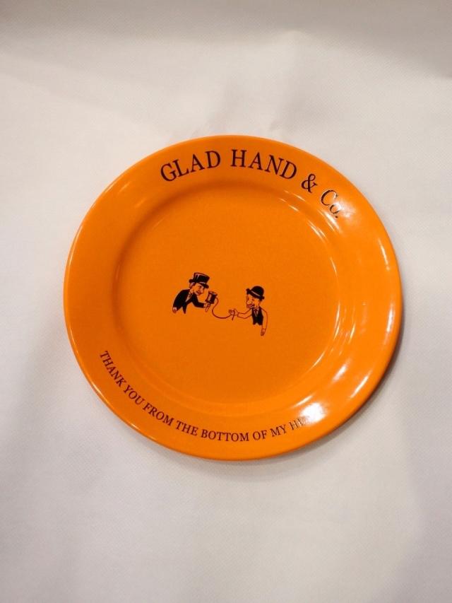 """GLAD HAND  「PLATE """"10th ANNIVERSARY"""" <MEDIUM>」  10周年記念プレート"""