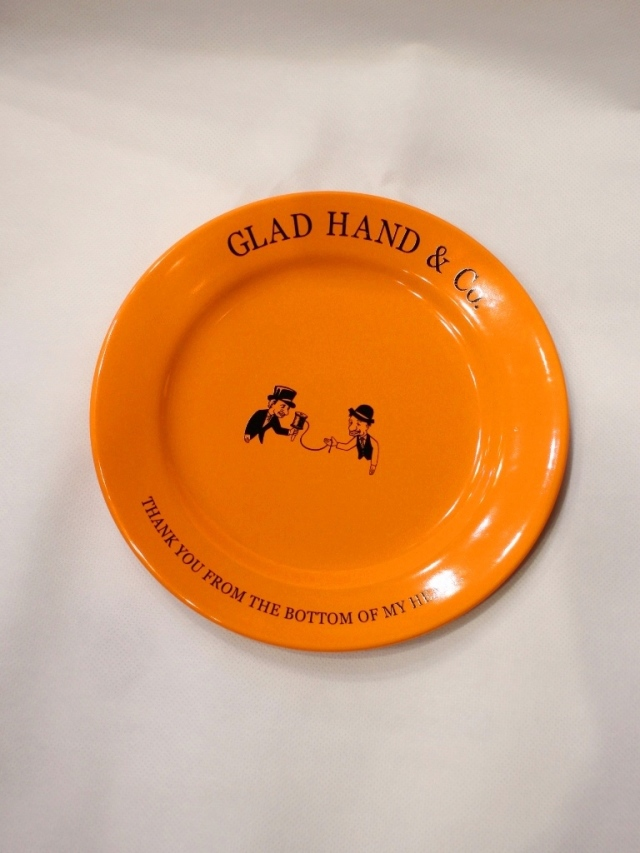 "GLAD HAND  「PLATE ""10th ANNIVERSARY"" <MEDIUM>」  10周年記念プレート"