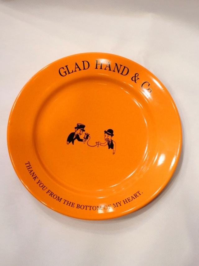 "GLAD HAND  「PLATE ""10th ANNIVERSARY"" <LARGE>」  10周年記念プレート"