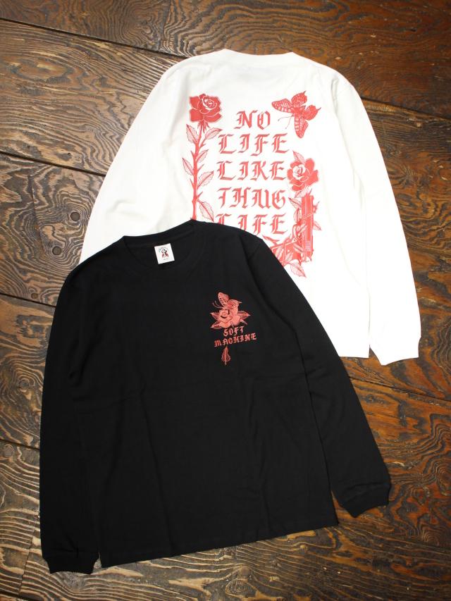SOFTMACHINE  「SHAKUR L/S」 ロングスリーブプリントティーシャツ