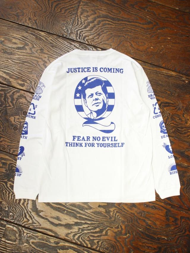 SOFTMACHINE  「JUSTICE L/S」 ロングスリーブプリントティーシャツ