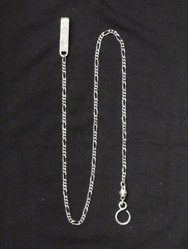 ANTIDOTE BUYERS CLUB by Cootie Productions  「Engraved Narrow Wallet Chain (Long)」 SILVER950製 ウォレットチェーン