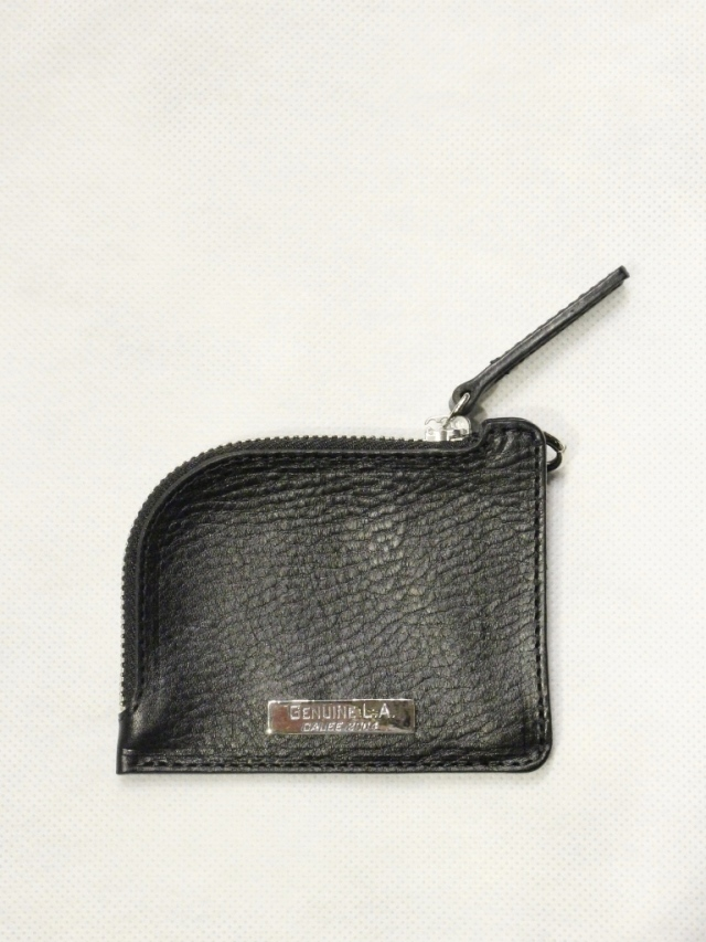【Limited Item !!】 CALEE  「LIMITED SILVER PLATE LEATHER MINI WALLET」  レザーミニウォレット