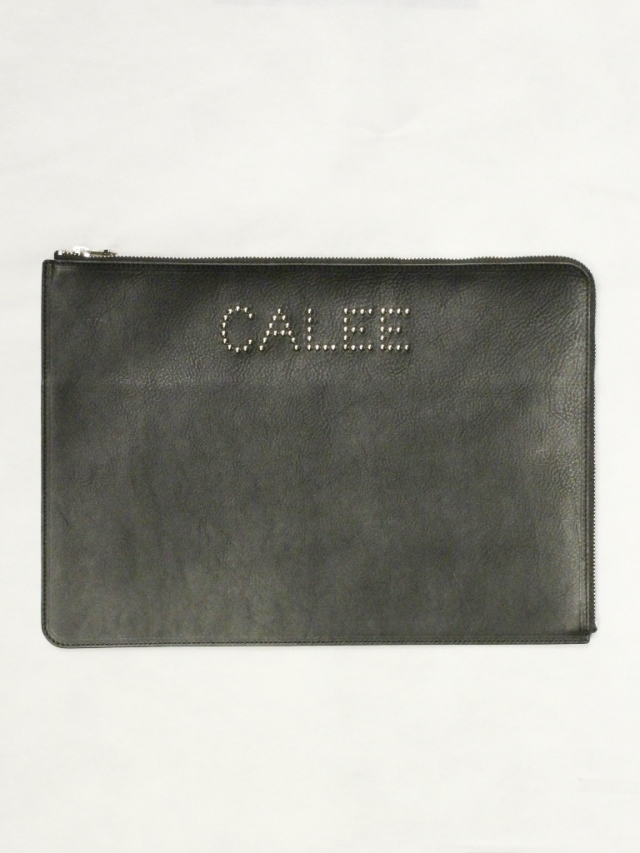 【Limited Item !!】 CALEE  「LIMITED STUDS LEATHER CLUTCH BAG」  レザークラッチバッグ