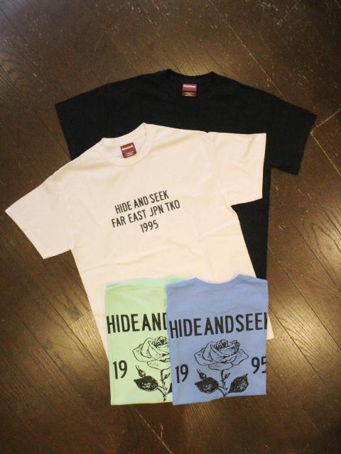 HIDEANDSEEK 「Rose S/S Tee」 プリントティーシャツ