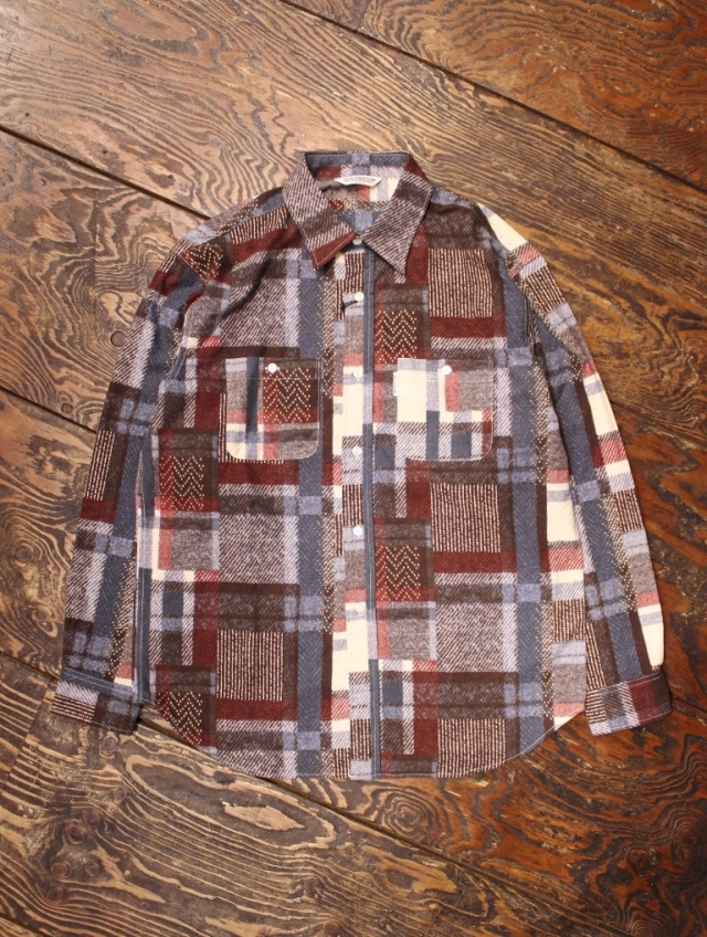 COOTIE  「Crazy Pattern L/S Work Shirt」 クレイジーパターン ワークシャツ