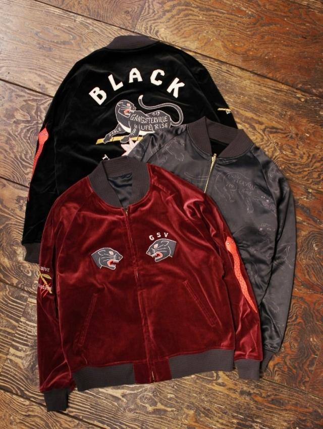 GANGSTERVILLE   「BLACKSVILLE - SOUVENIR JACKET」  リバーシブル スーベニアジャケット