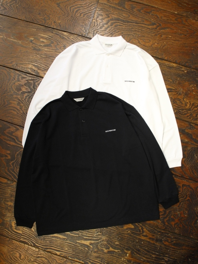 COOTIE  「Supima Cotton Sweat L/S Polo」 ロングスリーブポロシャツ