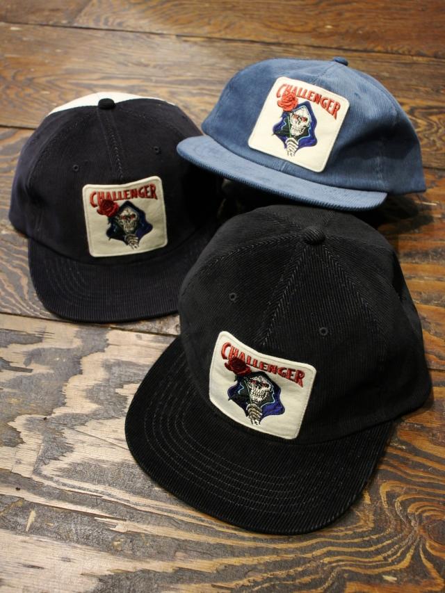 CHALLENGER   「SPADE SKULL CORDUROY CAP」 コーデュロイワッペンキャップ
