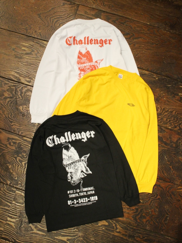 CHALLENGER    「L/S GOLD FISH TEE」 プリントロンティー
