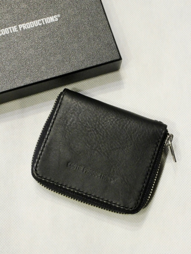 COOTIE   「 Leather Zip-Around Wallet」  レザーショートウォレット