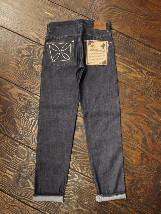 "GANGSTERVILLE   「 THUG - DENIM SLIM ""IRON CROSS"" 〈INDIGO〉 」  デニムパンツ"