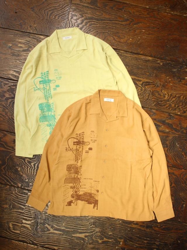 RADIALL  「HYDRAULIC - OPEN COLLARED SHIRT L/S」  オープンカラーレーヨンシャツ