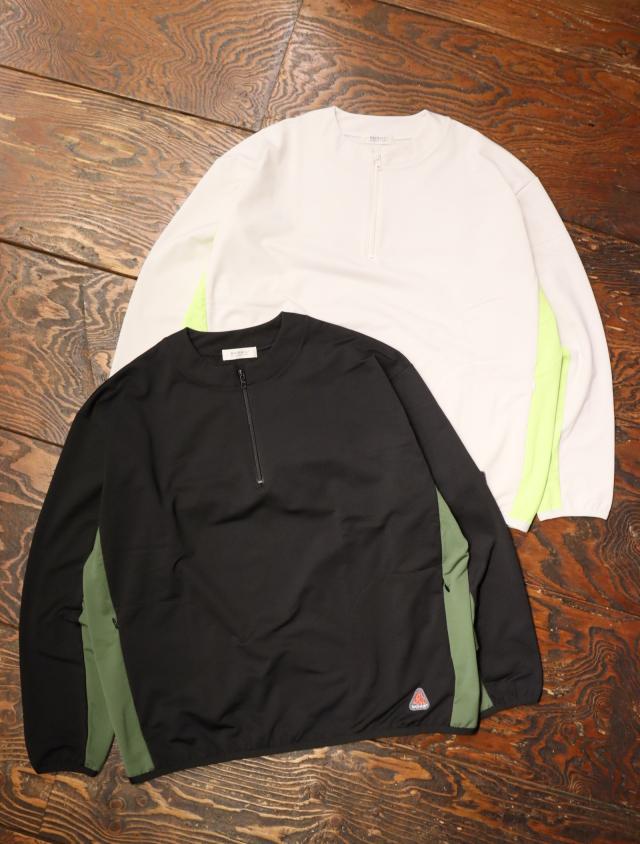 RADIALL  「CALDERA - HALF ZIP PULLOVER SWEATSHIRT L/S」  ハーフジップスウェットシャツ