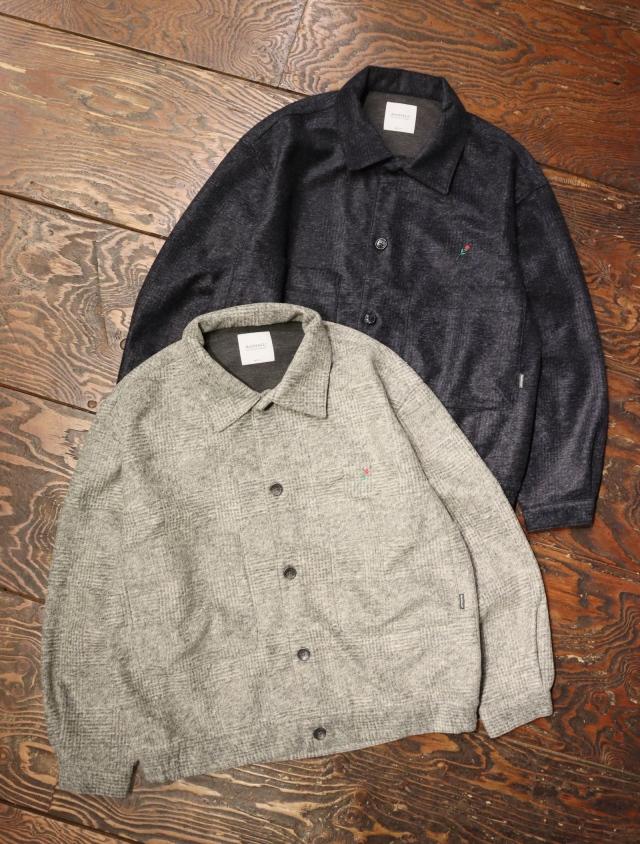 RADIALL  「POET - REGULAR COLLARED SHIRT L/S」 グレンチェック シャツジャケット