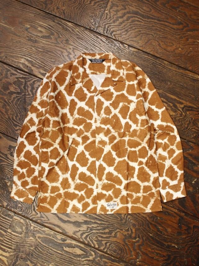 CUT RATE  「GIRAFFE PATTERN L/S NELL SHIRT」 オープンカラーシャツ