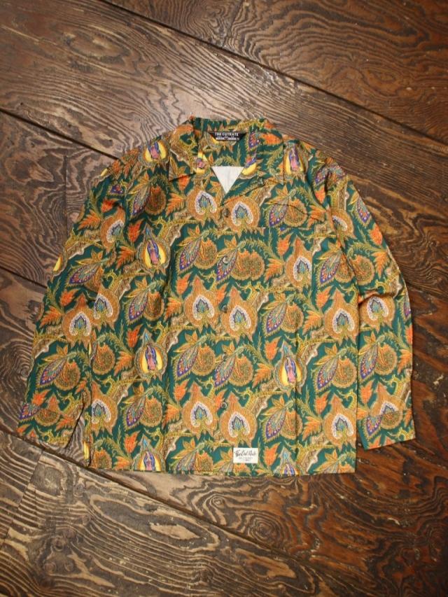 CUT RATE  「MARIA PAISLEY PATTERN L/S SHIRT」 マリア&ペイズリーパターン オープンカラーシャツ