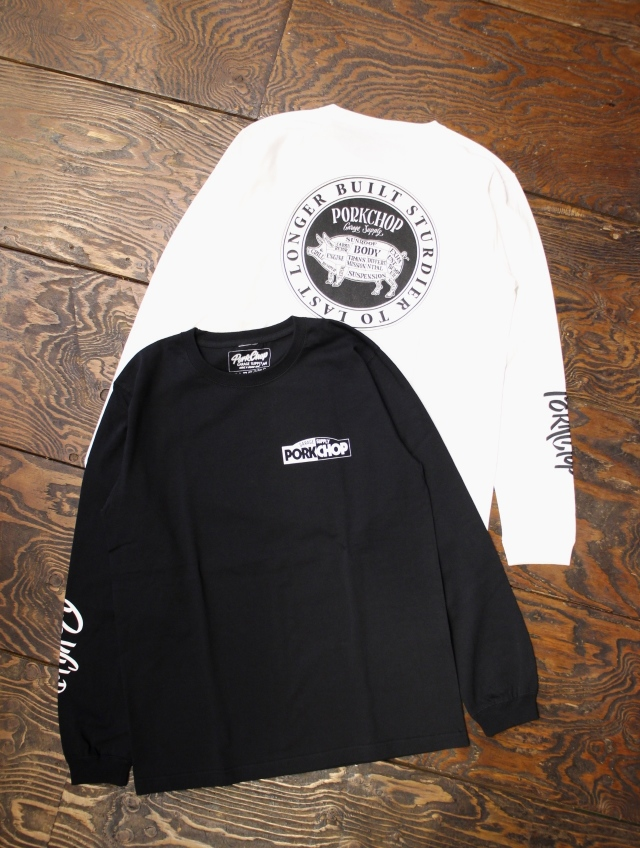 PORKCHOP GARAGE SUPPLY × MASH UP  「5th Anniversary L/S TEE 」  ロングスリーブティーシャツ