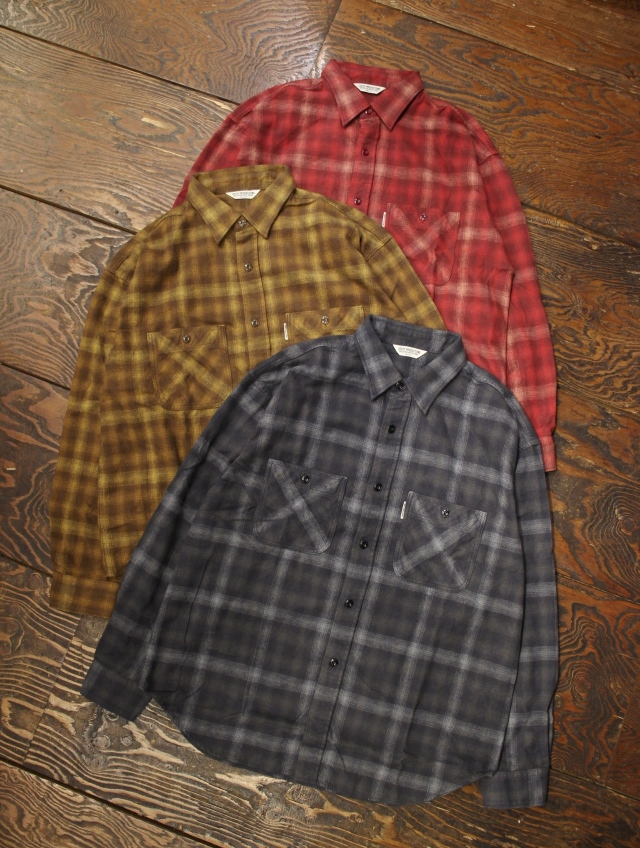 COOTIE  「Ombre Check Work Shirt 」 オンブレチェック ワークシャツ