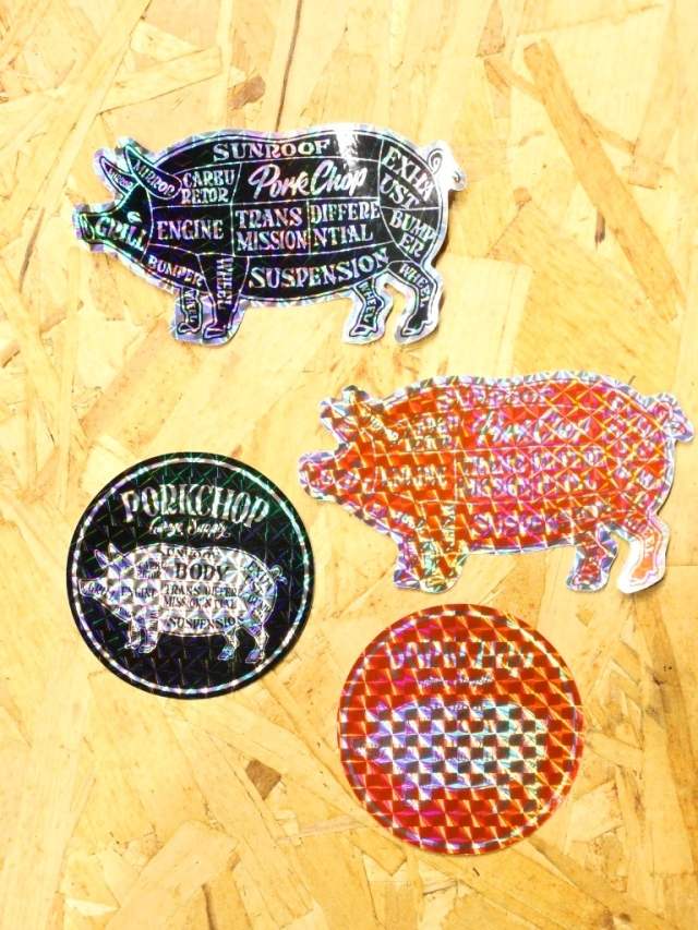PORKCHOP GARAGE SUPPLY   「HOLOGRAM STICKER SET」  ステッカーセット