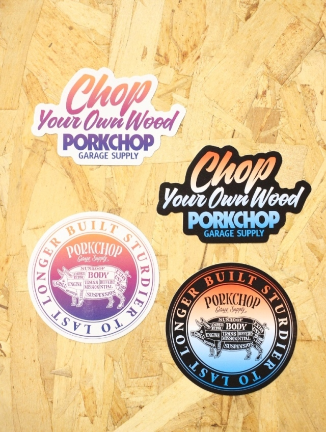 PORKCHOP GARAGE SUPPLY   「 GRADATION STICKER SET 」  ステッカーセット