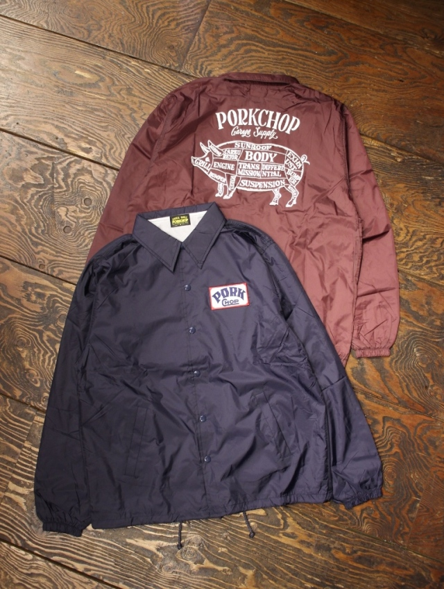 PORKCHOP GARAGE SUPPLY   「 PORK BACK COACH JKT 」  コーチジャケット