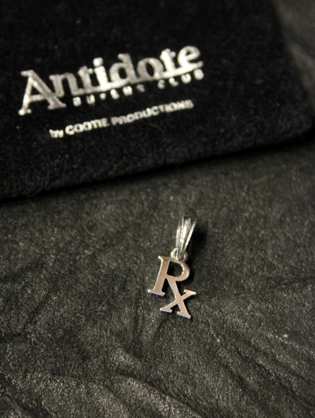 ANTIDOTE BUYERS CLUB by Cootie Productions   「 RX Pendant 」 SILVER950製 ペンダントトップ