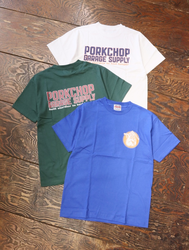 【7月25日 12時~発売開始!】   PORKCHOP GARAGE SUPPLY   「OLD PORK SIGN TEE」  プリントティーシャツ