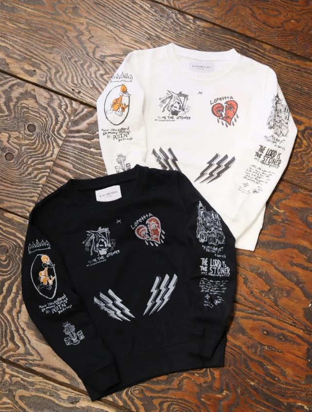 【FOR KIDS】 Black Weirdos  「 Cady Tattoo Sweatshirt  (Kids) 」 キッズスウェット