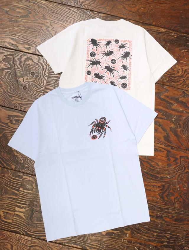 MASSES  「T-SHIRTS SPIDER」  プリントティーシャツ