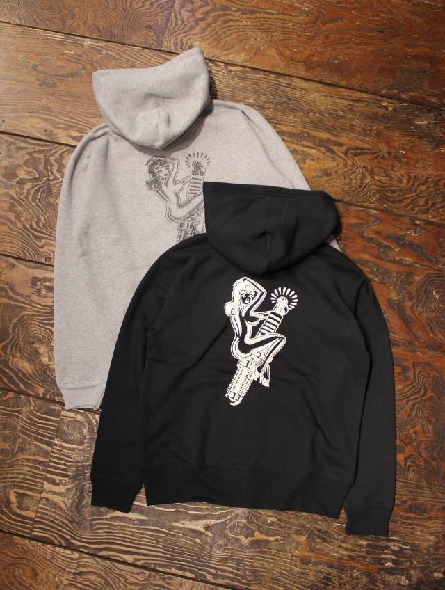 DOZEN ONE  「PINUP GIRL ZIP HOODED」 ジップパーカー