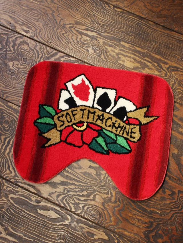 SOFTMACHINE   「FOUR CARDS TOILET RUG」 ラグマット