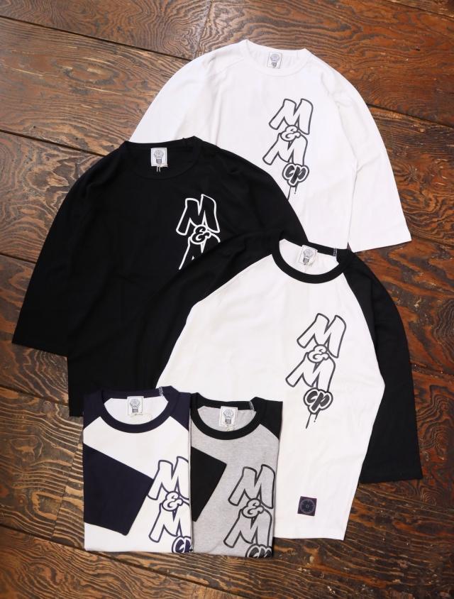 【 5月8日発売!】 M&M CUSTOM PERFORMANCE  「 RAGLAN T-SHIRT 」 ラグラン7分袖ティーシャツ