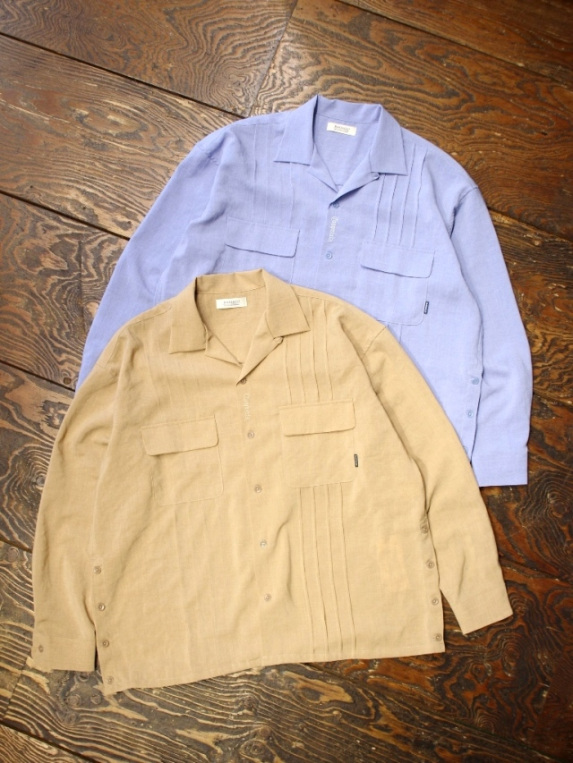 RADIALL  「MONTE CALRO - OPEN COLLARED SHIRT L/S」  キューバシャツ