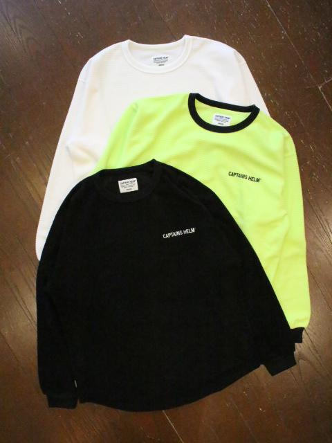 CAPTAINS HELM 「#BLOCK THRMAL  L/S TEE」 サーマルロングスリーブティーシャツ