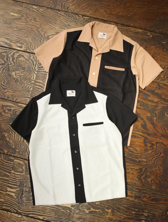 GANGSTERVILLE   「GAMBLER - S/S SHIRTS」   オープンカラー レーヨン&ニットシャツ