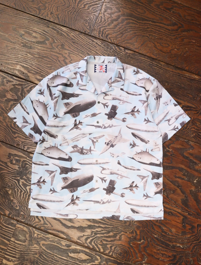 SON OF THE CHEESE  「 Plane Shirt 」 総柄オープンカラーシャツ