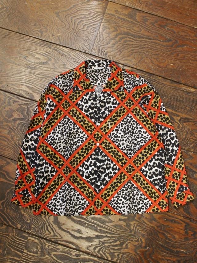 COOTIE  「Crazy Leopard Open-Neck L/S Shirt 」 オープンカラーシャツ