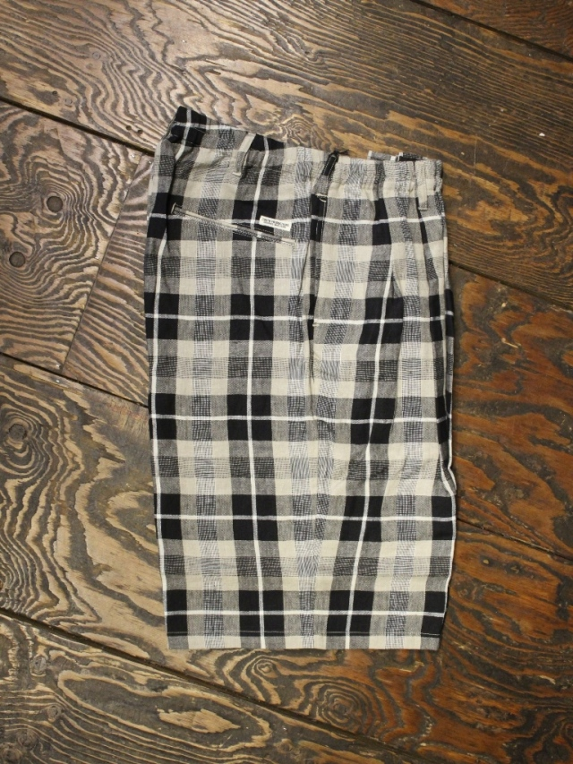 COOTIE  「Linen Check 2 Tuck Easy Shorts」 リネンチェック 2タック イージーショーツ