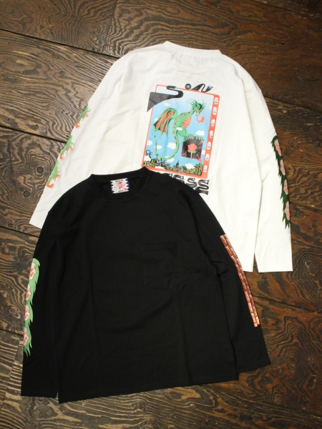 SON OF THE CHEESE × Sam Ryser  「Drag LS TEE」  プリントロンティー