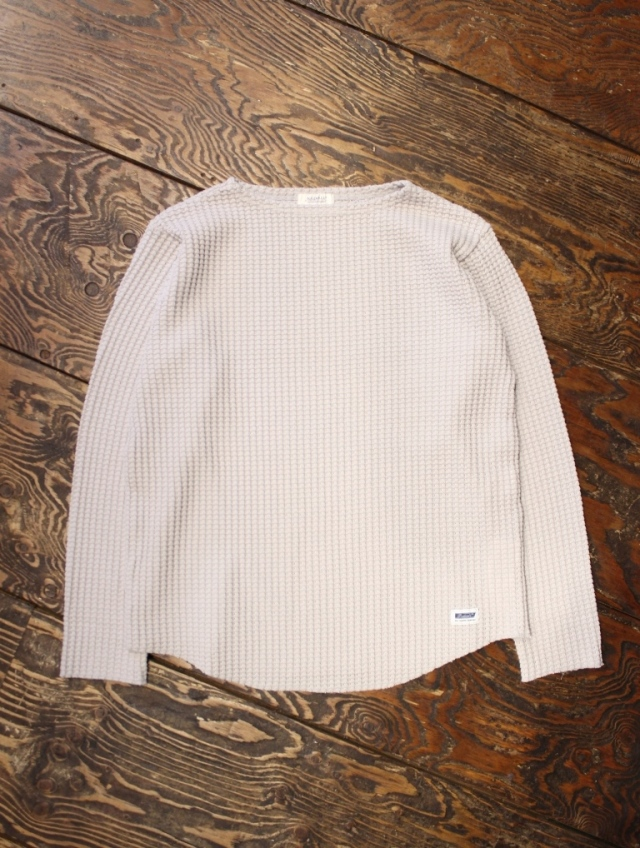 RADIALL 「BIG WAFFLE - BOAT NECK T-SHIRT L/S」 ワッフルロンティー
