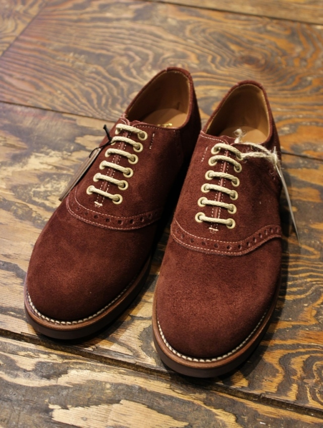 REGAL × GLAD HAND   「MEN'S SADDLE VELVET COW HIDE - SHOES 〈BROWN〉 」 スウェードサドルシューズ