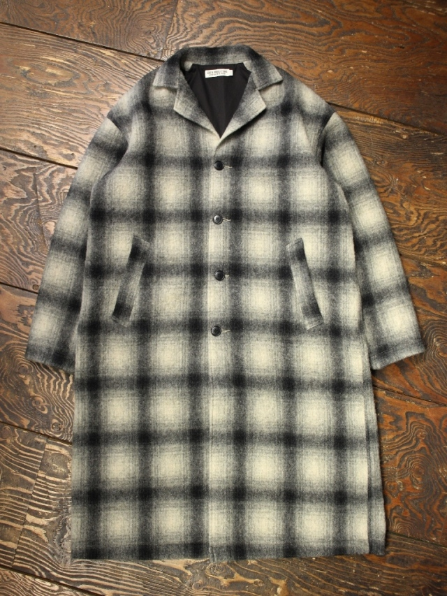 COOTIE  「 Napping Ombre Check Shop Coat 」 ショップコート