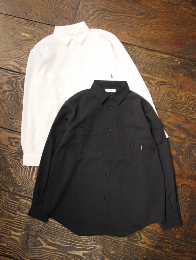 RADIALL  「HUNTINGTON - REGULAR COLLARED SHIRT L/S」  レギュラーカラーシアサッカーシャツ